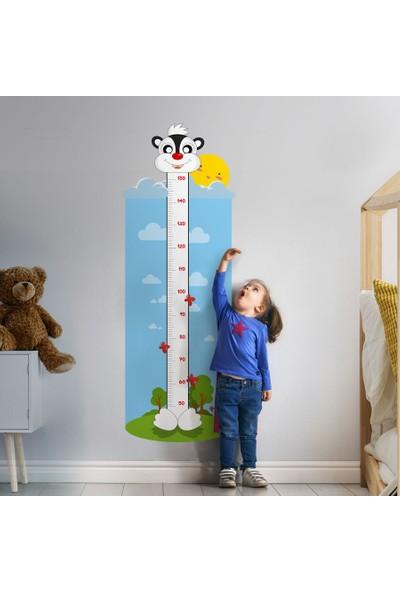 Yapıştırrco Küçük Sincap Boy Ölçer Sticker Duvar Stickerı