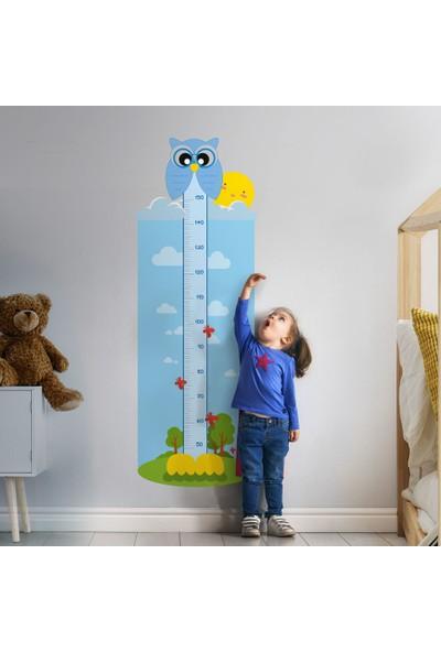 Yapıştırrco Mavi Baykuş Boy Ölçer Sticker