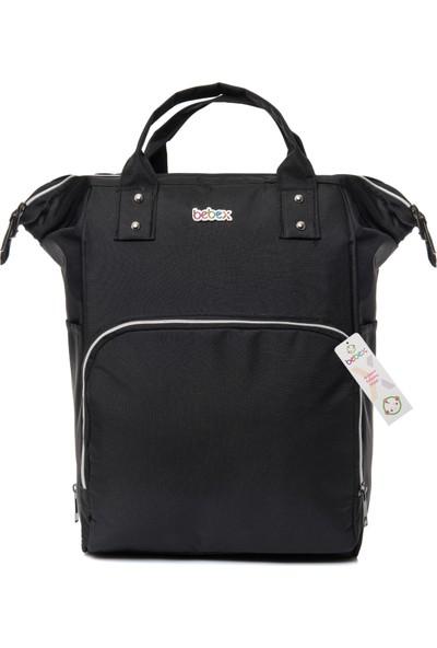Bebex Bag-Z Organizatör Anne Bebek Bakım Sırt Çantası Siyah/Dark Black