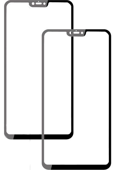 Case 4U Xiaomi Mi 8 Lite 3D Kavisli Temperli Cam Ekran Koruyucu Film - Siyah