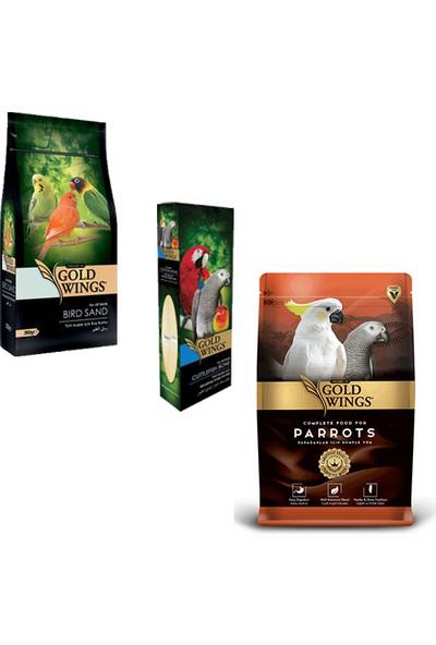 Gold Wings Premium Papağan Kuş Yem Seti