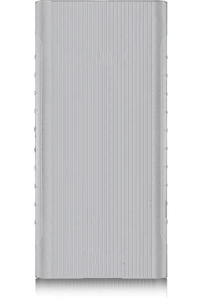 Case 4U Xiaomi 20000 mAh Versiyon 2C Taşınabilir Şarj Cihazı Silikon Kılıf - Beyaz