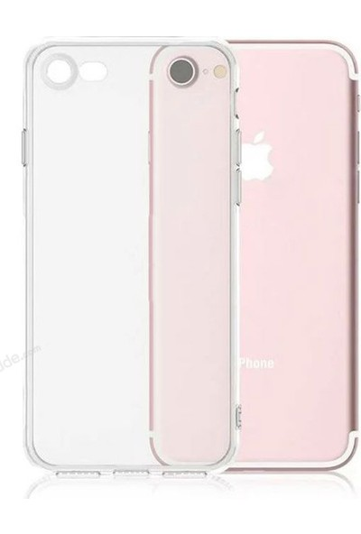 Case 4U Apple iPhone SE 2020 / iPhone 8 / iPhone 7 Silikon Kılıf Şeffaf