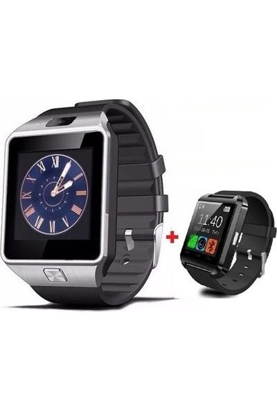 Berkev Akıllı Saat Dz09 Akıllı Saat Hediyeli - Siyah