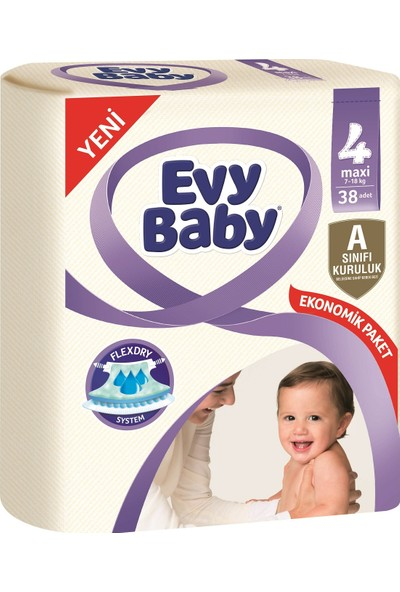 Evy Baby Bebek Bezi 4 Beden Maxi Jumbo Paket 38 Adet