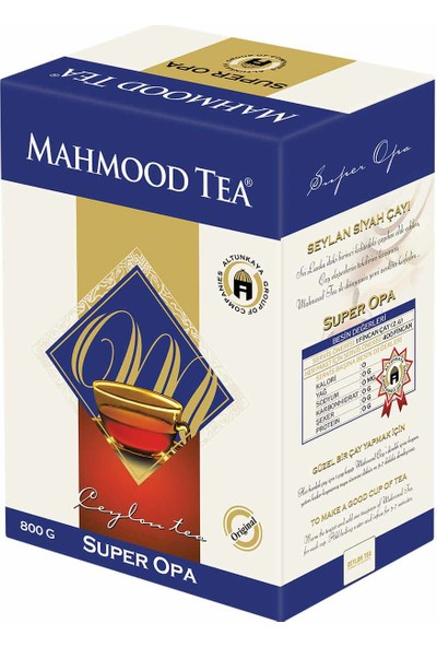 Mahmood Tea Super Opa Seylan Çayı 800 gr