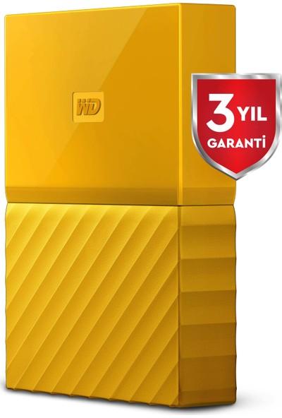 """WD My Passport 1TB 2.5""""USB 3.0 Sarı Taşınabilir Disk WDBYNN0010BYL"""