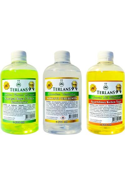 Terlans Yağlı Boya Seti Yardımcı Malzemeler 3 x 500 ml