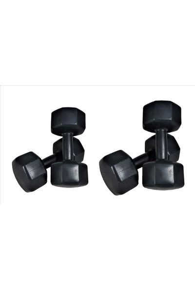 Powerbull 5 Kg X 2 Adet + 8 Kg X 2 Adet Dambıl Seti Dumbell Set Halter Fitness Spor Aleti