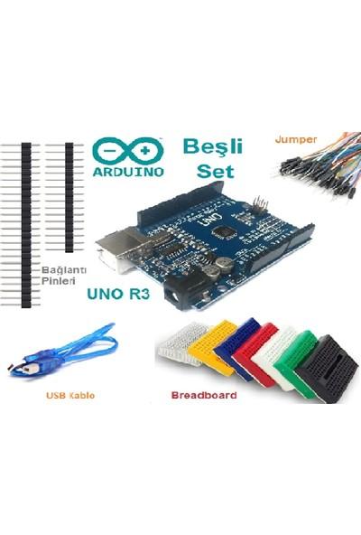 Maker Arduino Mini Set 5 Parça + Usb Kablo