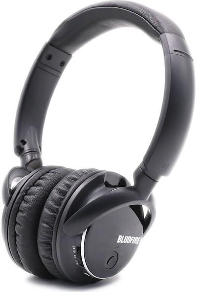 Bludfire HW1 Extra Bass Bluetooth(4.2) Mikrofonlu Radyolu Mp3 Kulaklık 8 GB - Siyah