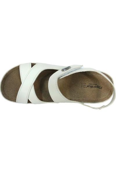 Paprika 54937 Bej Krem Anatomik Comfort Kadın Sandalet
