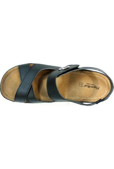 Paprika 54937 Siyah Anatomik Comfort Kadın Sandalet