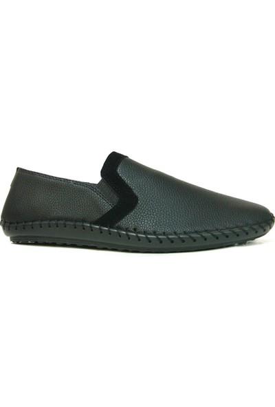 Shoepi 030 Siyah Bağcıksız Casual Erkek Ayakkabı
