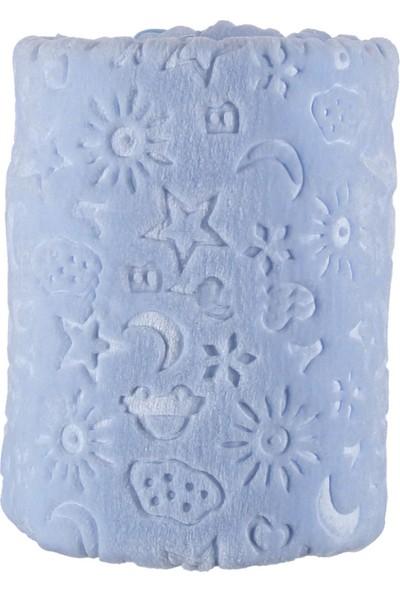 Bahar Kutulu Peluş Battaniye Mavi