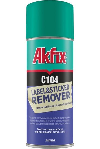 Akfix Etiket Ve Sticker Sökücü Sprey C104 4 Adet