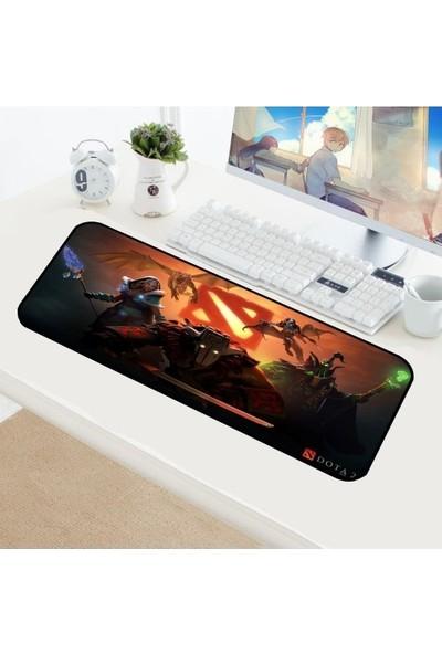 Appa Dota 5 Desenli Oyuncu Mouse Pad 70 x 30 cm Kaymaz Dikişli