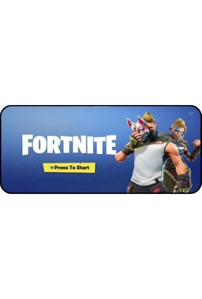 Appa Fortnite 1 Oyuncu Mouse Pad 70 x 30 cm Kaymaz Dikişli Mousepad