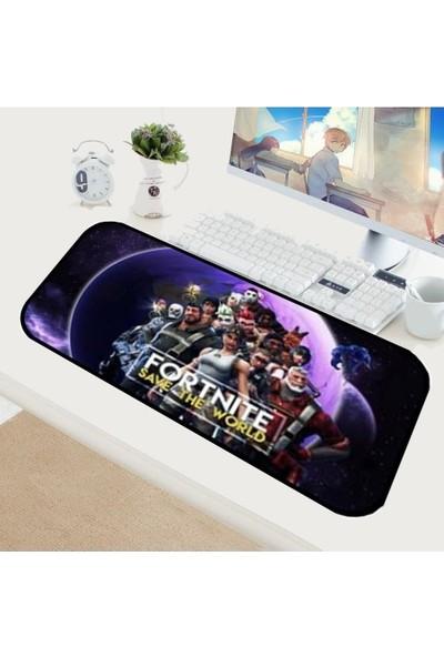 Appa Fortnite 4 Oyuncu Mouse Pad 70 x 30 cm Kaymaz Dikişli Mousepad