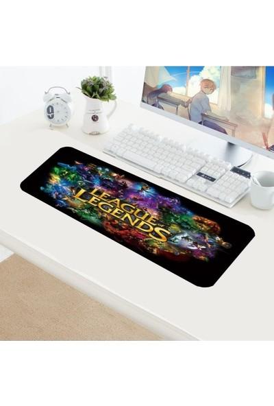 Appa Lol 7 Desenli Oyuncu Mouse Pad 70 x 30 cm Kaymaz Dikişli