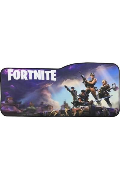Appa Fortnite 2 Oyuncu Mouse Pad 75 x 35 cm Kaymaz Dikişli Mousepad