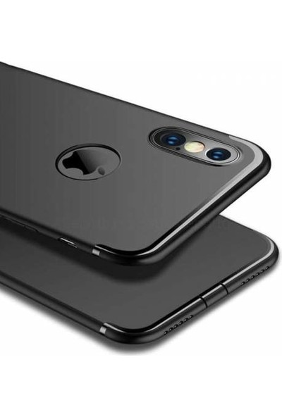 Çin Pazarı Apple iPhone X - XS Tam Korumalı Tıpalı Silikon Kılıf