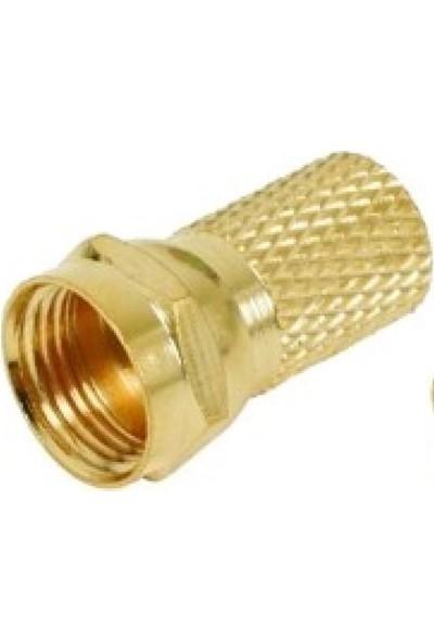 Bb ElektronikF Konnektör Gold Altın Rg6 100 Adet
