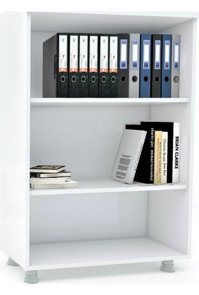 Elizza Modüler Dünyası Kitaplık Dosya Dolabı Beyaz