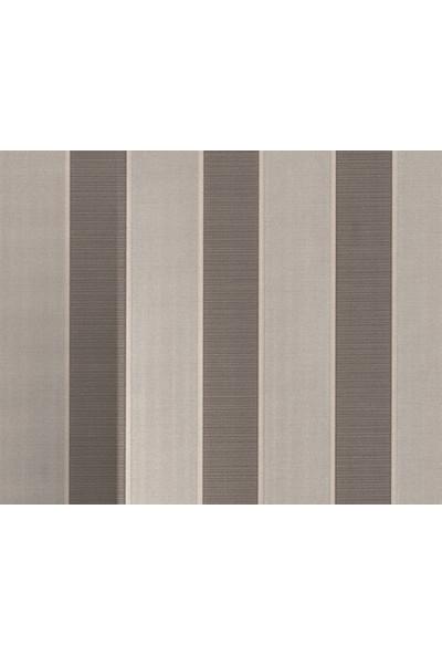 HannAtelier markası Çizgili Desen Gümüş/Silver Simli Duvar Kağıdı