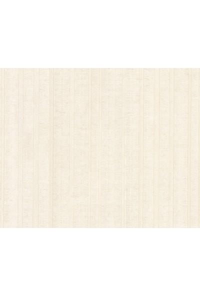 HannAtelier markası Çizgili Desen Krem Duvar Kağıdı