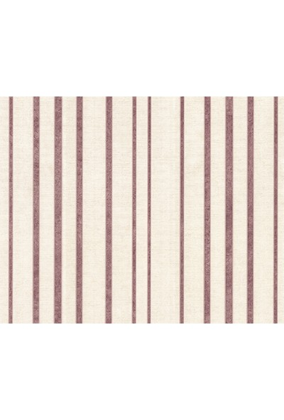 HannAtelier markası Mor Çizgili Desen Krem Duvar Kağıdı