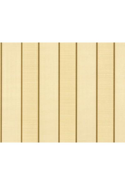 HannAtelier markası Çizgili Desen Altın/Gold Simli Duvar Kağıdı