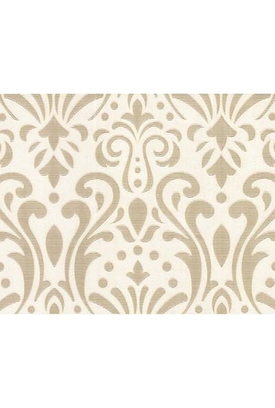 HannAtelier markası Damask Desenli Beyaz Duvar Kağıdı