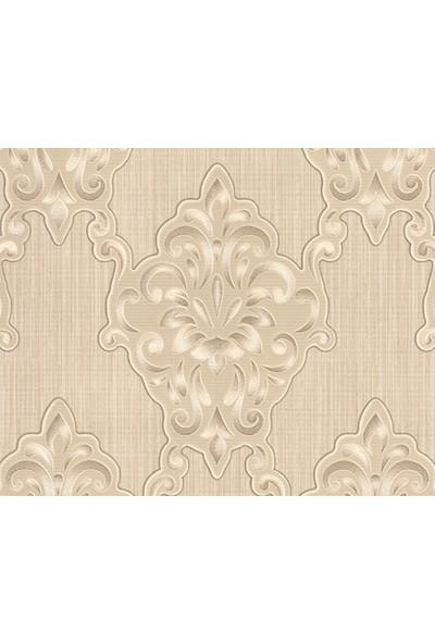 HannAtelier markası Damask Desen Kahverengi Duvar Kağıdı