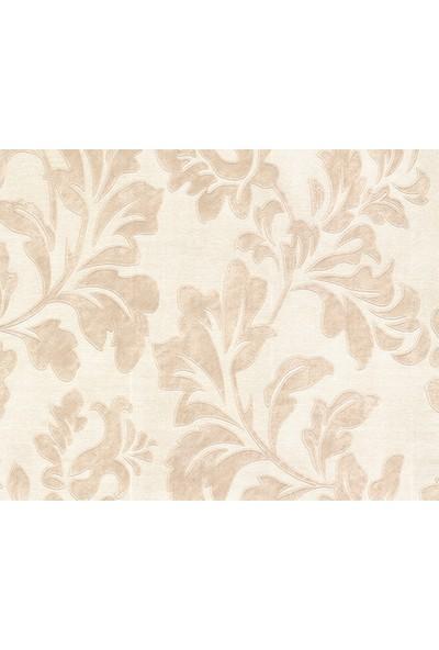 HannAtelier markası Klasik Stil Yaprak Desenli Krem Duvar Kağıdı