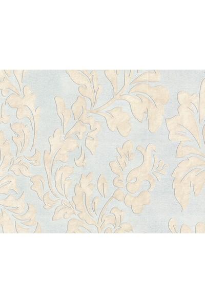 HannAtelier markası Klasik Stil Yaprak Desenli Mavi Duvar Kağıdı