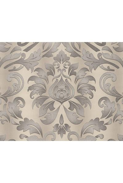 HannAtelier markası Gümüş/Silver Damask Desenli Duvar Kağıdı