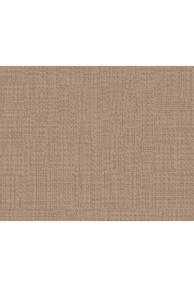 HannAtelier markası Keten Efektli Düz Desen Kahverengi Duvar Kağıdı