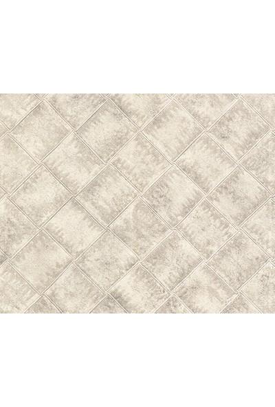 HannAtelier markası Baklava Desen Beyaz Duvar Kağıdı