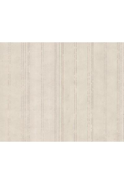 HannAtelier markası Gümüş/Silver Çizgili Desen Duvar Kağıdı