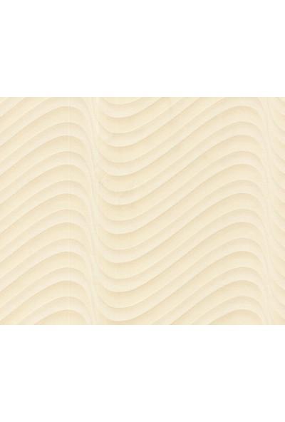 HannAtelier markası Dalga Desenli Krem Duvar Kağıdı