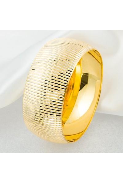 Bilezikci 3 cm Enli Mega 8 Ayar Altın Bilezik 22 gr