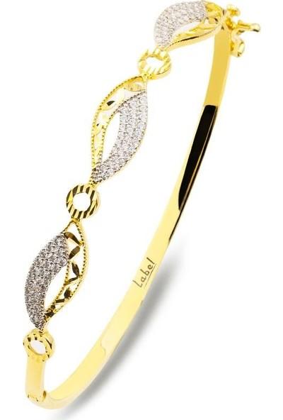 Label Jewelry Yapraklar 14 Ayar Altın Kelepçe Bilezik