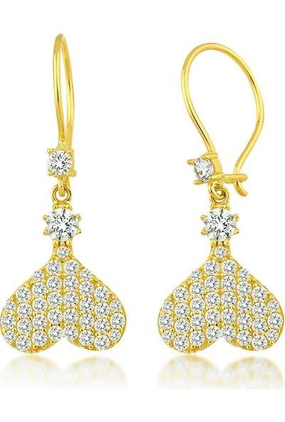 Label Jewelry Kalpli 22 Ayar Altın Sarkaç Küpe