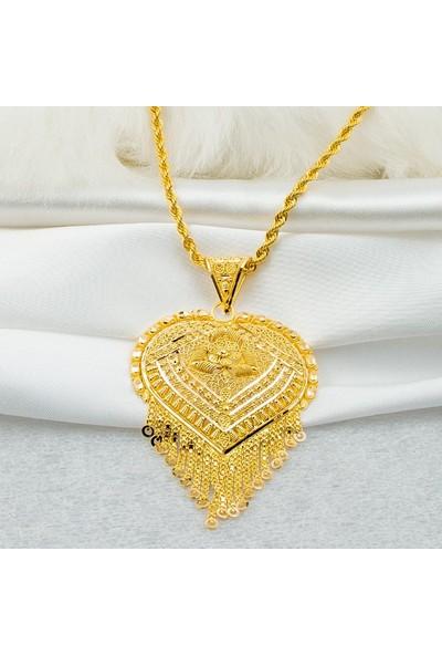 Bilezikci Hint İşi Kalp 22 Ayar Altın Kolye 25,50 gr