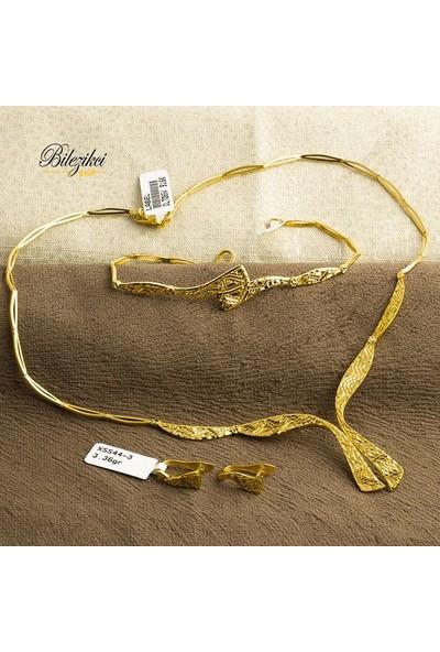 Label Jewelry Taşsız 22 Ayar Altın Düğün Takı Seti