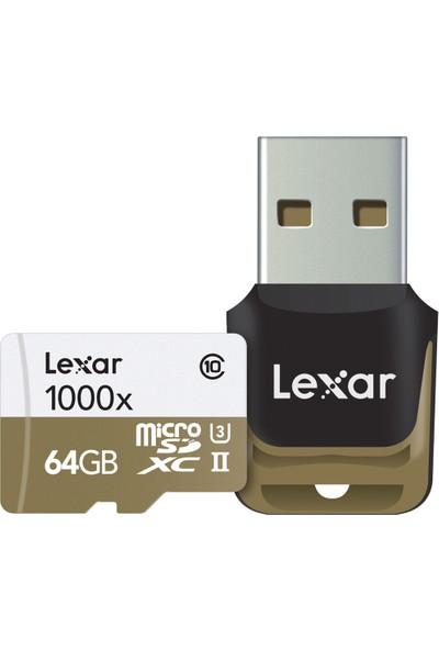 Lexar 64 GB 1000x 4K Micro SD Hafıza Kartı + 3.0 Kart Okuyucu