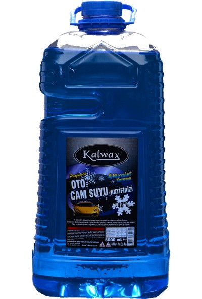 Kalwax Cam Suyu -40 Derece 5 lt. Parfümlü