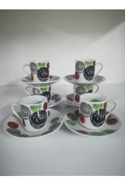 Porselen Türk Kahve Takım