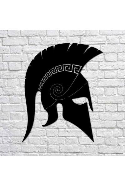 Bafidica Spartlı Savaş Kaskı Metal Duvar Tablo